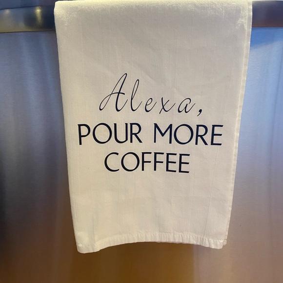 Funny Kitchen Tea Towel Set of 4 Cotton Flour Sack Forest Animals